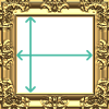 Picture frame with width and height