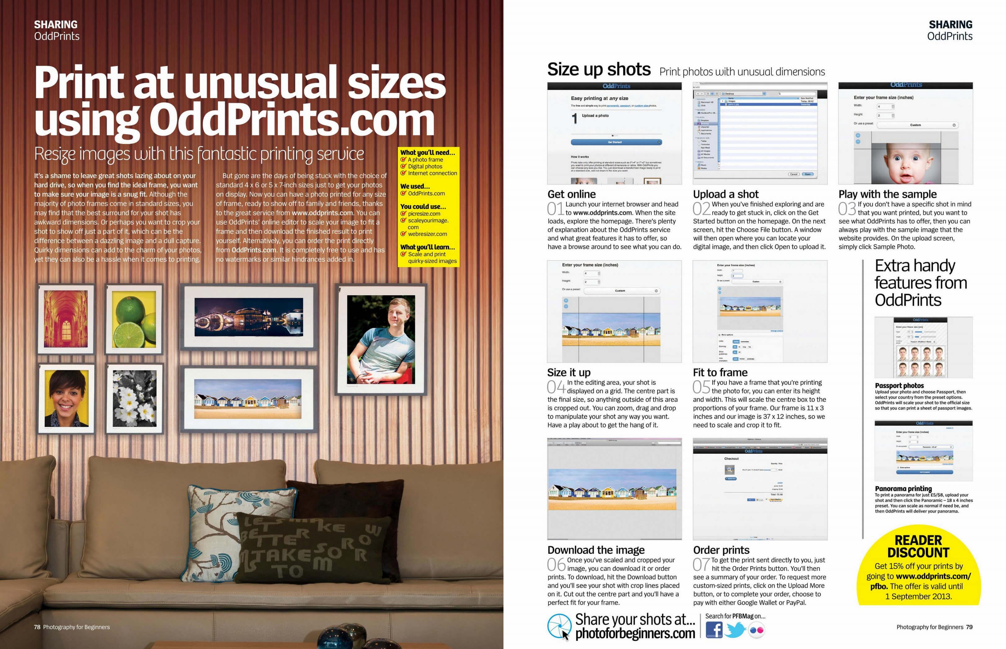 OddPrints - Easy printing for tricky frames